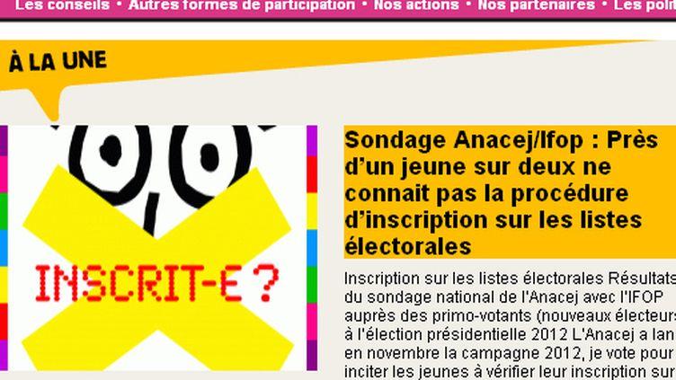 Capture d'écran du site de l'Anacej (DR)