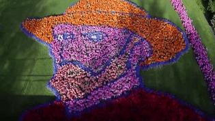 Autoportrait de Vincent Van Gogh au parc floral du Keukenhof