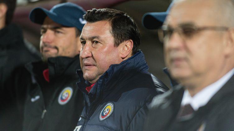 L'ancien attaquant du FC Nanates, Viorel Moldovan, sélectionneur adjoint de la Roumanie (CATALIN SOARE / NURPHOTO)