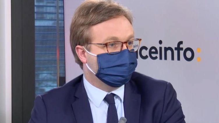 Michaël Fribourg,PDG de Chargeurs (11 février 2020). (FRANCEINFO/ RADIOFRANCE)