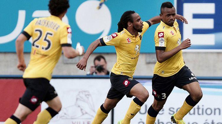 Jordan Ayew, décisif sur les deux buts, relance Sochaux pour le maintien. (FREDERICK FLORIN / AFP)