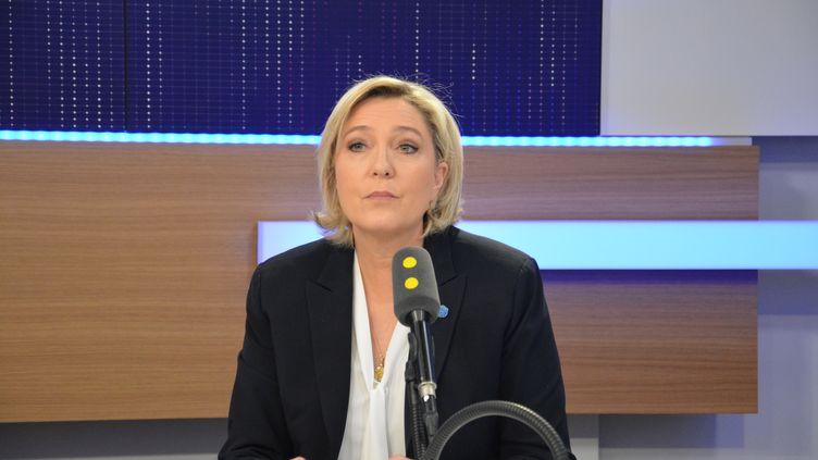 Marine Le Pen,présidente du FN, candidate à l'élection présidentielle de 2017. (RADIO FRANCE / JEAN-CHRISTOPHE BOURDILLAT)