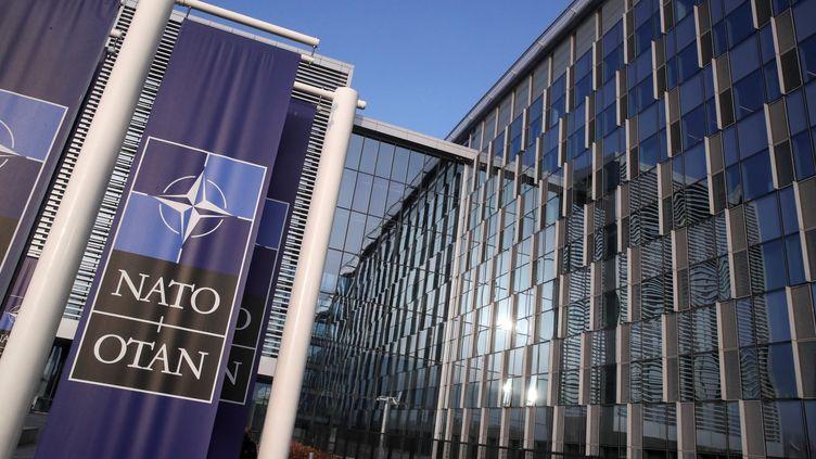 Le siège de l'OTAN à Bruxelles (Belgique). (YVES HERMAN / POOL / AFP)