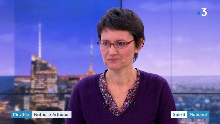 Nathalie Arthaud (Lutte ouvrière) (France 3)