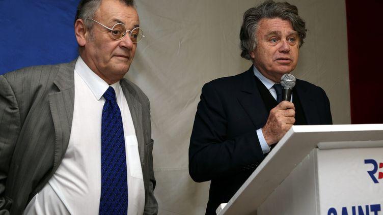 Jean Roucas à la présentation des vœux de Gilbert Collard, candidat aux municipales, le 8 janvier 2014 à Saint-Gilles (Gard). (MAXPPP)