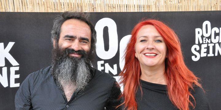 Lionel et Marie de LIminanas dans les coulisses de Rock en Seine 2018  (Olivier Flandin FTV)