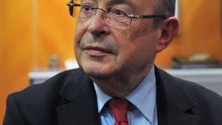 Jean Germain, sénateur PS, et encore maire de Tours, le 30 mars 2014, à Tours (Indre-et-Loire). (GUILLAUME SOUVANT / AFP)