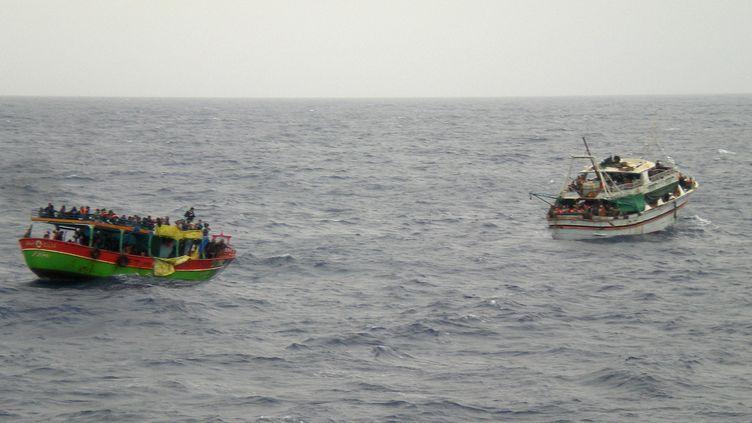 Un navire de la marine italienne le 20 mai 2014 près de la Sicile. (MARINA MILITARE ITALIANA / AFP)