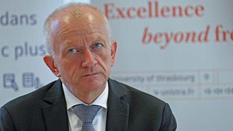 Le président de l'université de Strasbourg (Bas-Rhin) Michel Deneken, le 18 avril 2018. (JEAN-MARC LOOS / MAXPPP)