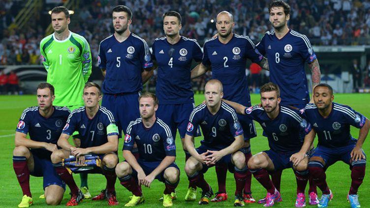 La sélection nationale d'Ecosse lors du match face à l'Allemagne à Dortmund en septembre 2014 (KIERAN MCMANUS / BACKPAGE IMAGES LTD)