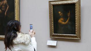 Le Saint Jean Baptiste de Léonard de Vinci, le 13 janvier 2016 au Louvre. (PATRICK KOVARIK / AFP)