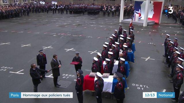 Paris : un hommage a été rendu aux fonctionnaires tués à la préfecture de police