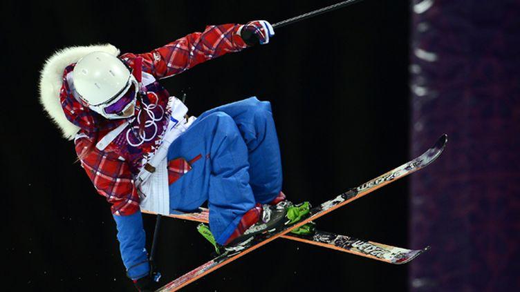 Marie Martinod a décroché la médaille d'argent en half-pipe. (JAVIER SORIANO / AFP)