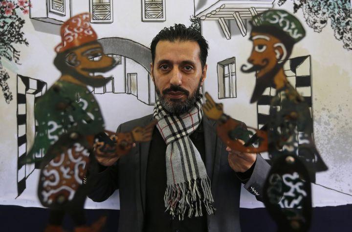 Chadi al-Hallak, le marionnettiste  (LOUAI BESHARA / AFP)