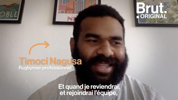 """VIDEO. Congé paternité : """"Je veux être là pour elle cette fois"""", confie le rugbyman Timoci Nagusa (BRUT)"""