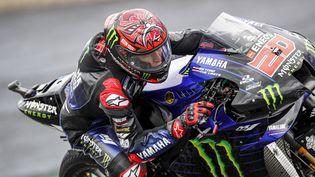 Le pilote français Fabio Quartararo (Yamaha Factory) lors des essais libres du Grand Prix de Styrie, sur le circuit du Red Bull Ring de Spielberg (Autriche), vendredi 6 août 2021. (GIGI SOLDANO / DPPI via AFP)