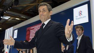 Nicolas Sarkozy, président des Républicains, arrive au congrès fondateur du mouvement, samedi 30 mai 2015, à Paris. (PHILIPPE WOJAZER / REUTERS )