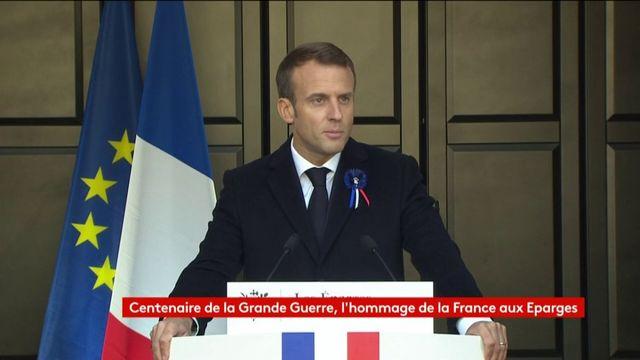 """""""Je souhaite que l'an prochain, ceux de 14 soient représentés au Panthéon"""", annonce Emmanuel Macron"""