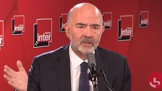 Pierre Moscovici, ancien ministre de l'Économie et des Finances et Premier président de la Cour des comptes, le 30 septembre sur France Inter. (FRANCEINTER / RADIOFRANCE)