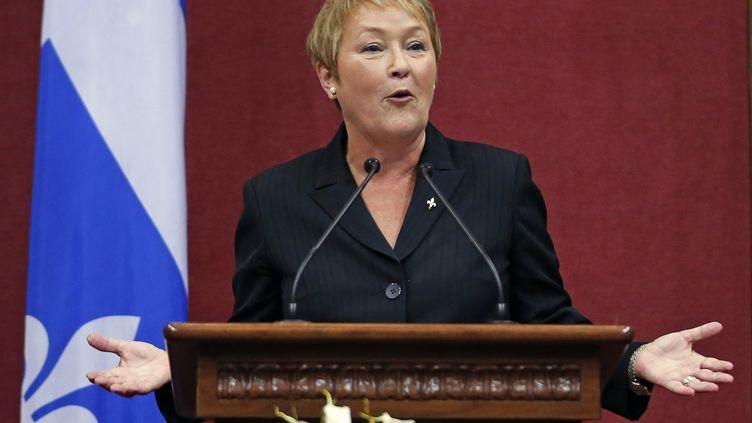La Première ministre québecoise, Pauline Marois, lors de son discours d'investiture, à Québec (Canada), le 19 septembre 2012. (MATHIEU BELANGER / REUTERS)
