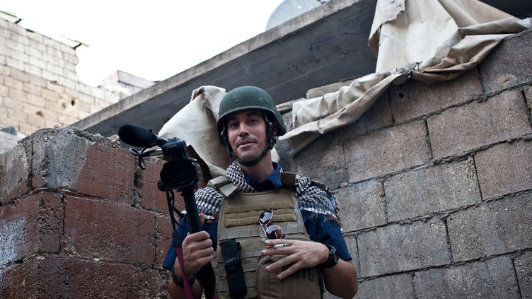 Le journaliste américain James Foley, le 5 novembre 2012 à Alep (Syrie). (NICOLE TUNG / AFP)