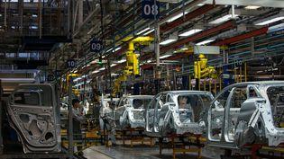 L'usine PSA Peugeot Citroen de Sochaux, dans le Doubs. (SIMON DAVAL / MAXPPP)