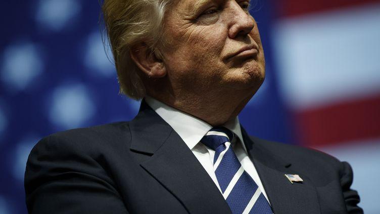 Le président américain élu, Donald Trump, le 9 décembre 2016, à Grand Rapids dans le Michigan (Etats-Unis). (DREW ANGERER / GETTY IMAGES NORTH AMERICA / AFP)
