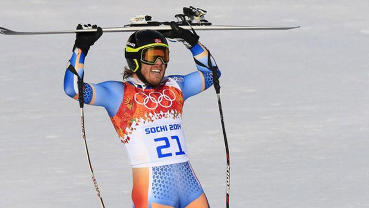 Le Norvégien Kjetil Jansrud champion olympique de super-G (ALEXANDER KLEIN / AFP)
