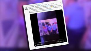 Caputre écran d'un des tweets qui diffuse la vidéo sur les réseaux sociaux. (CAPTURE ECRAN TWITTER)