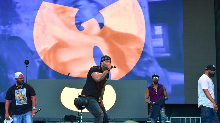 De gauche à droite, Raekwon, Method Man, RZA et Ghostface Killah du Wu-Tang Clan, sur scène le 8 septembre 2019 au 10e Musicfest d'Atlanta (Géorgie, Etats-Unis). (PRINCE WILLIAMS / WIREIMAGE / GETTY IMAGES)