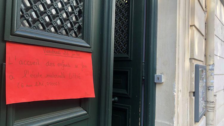 L'école Saint-Benoît à Paris, le 25 juillet 2019 (BASTIEN MUNCH / RADIO FRANCE)