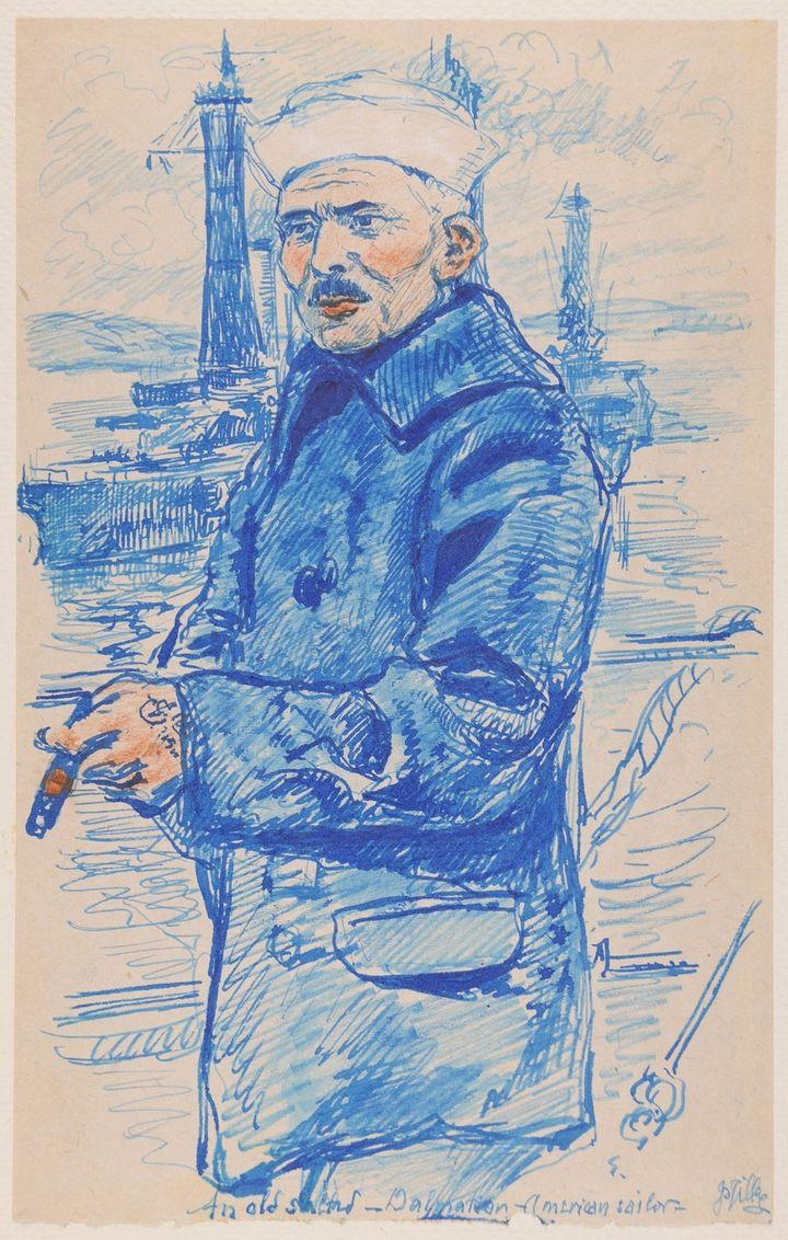 """""""Marin croate-américain"""" - Pablo Tillac  (Musée des Beaux Arts de Reims et de l'histoire de Bayonne)"""