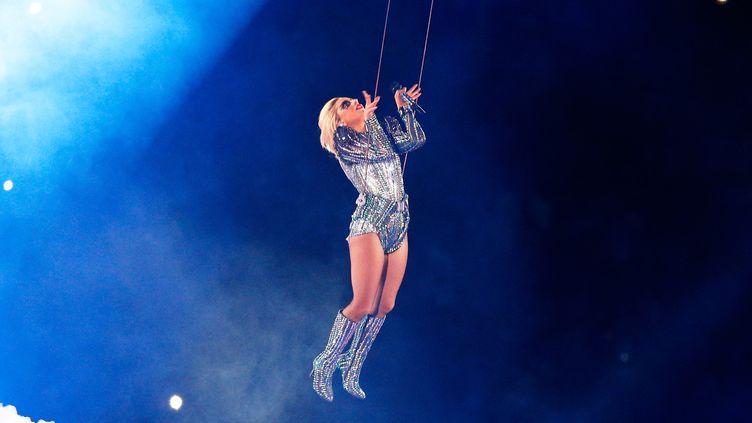 Show de Lady Gaga à la mi-temps du Super Bowl, février 2017  (Bob Levey / GETTY IMAGES NORTH AMERICA / AFP)