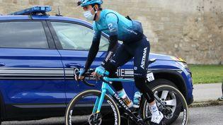 Alex Aranburu remporte la deuxième étape du Tour du Pays Basque, le 6 avril 2021. (LAURENT LAIRYS / MAXPPP)