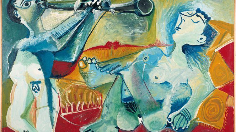 Détail deL'Aubade, de Pablo Picasso (Mougins, 19-20 janvier 1965). (ASSOCIATION DES AMIS DU PETIT PALAIS / STUDIO MONIQUE BERNAZ / SUCCESSION PICASSO 2020)