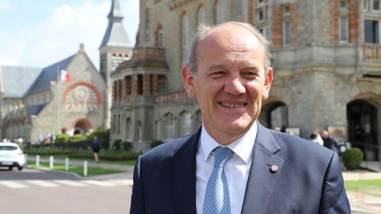 Daniel Fasquelle, le maire (LR) du Touquet, en juin 2020. (LUDOVIC MARIN / AFP)