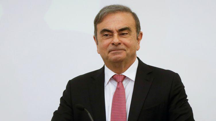 L'ancien patron de Nissan Carlos Ghosn au Liban, le 8 janvier 2020. (MOHAMED AZAKIR / REUTERS)