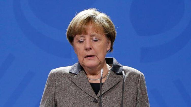 """(""""Les terroristes sont les ennemis de tous les gens libres"""" a déclaré Angela Merkel © REUTERS / Fabrizio Bensch)"""