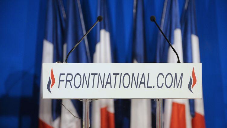 Un pupitre au siège du Front national, le 27 mars 2011 à Nanterre (Hauts-de-Seine). (BERTRAND GUAY / AFP)