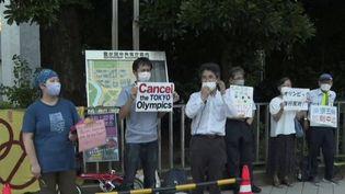Japon : une partie de la population manifeste pour mettre fin aux Jeux olympiques de Tokyo. (FRANCEINFO)