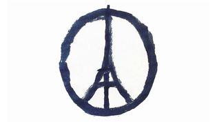 Le symbole de Peace For Paris lancé après les attaques du 13 novembre à Paris a été dessiné par Jean Jullien.  (Jean Jullien)