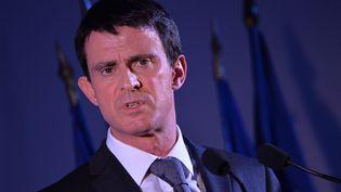 Le Premier ministre Manuel Valls à Corbeil-Essonnes (Essonne), le 15 février 2016. (MIGUEL MEDINA / AFP)