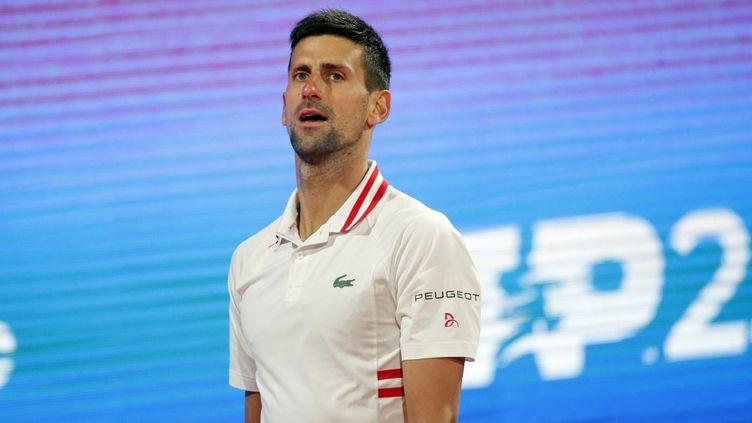 Tenant du titre, Novak Djokovic ne participera pas au tournoi de Madrid cette saison. (PEDJA MILOSAVLJEVIC / AFP)