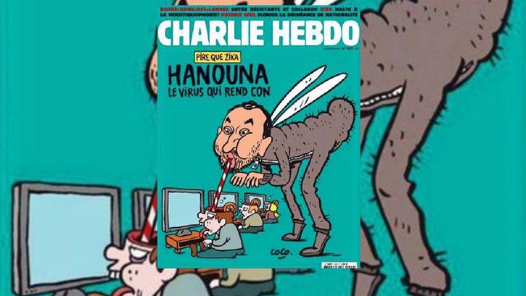 """La couverture de """"Charlie Hebdo"""" du mercredi 10 février 2016. (CHARLIE HEBDO)"""