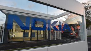 Manifestation devant l'usine Nokia de Lannion contre des suppressions de postes en 2017 (CLAUDE PRIGENT / MAXPPP)