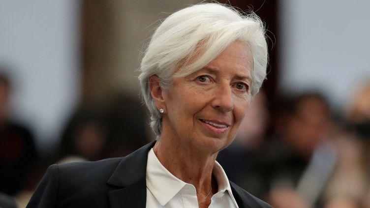 La directrice du Fonds monétaire international, Christine Lagarde, arrive au Women's Forum Americas, à Mexico, le 30 mai 2019. (HENRY ROMERO / REUTERS)