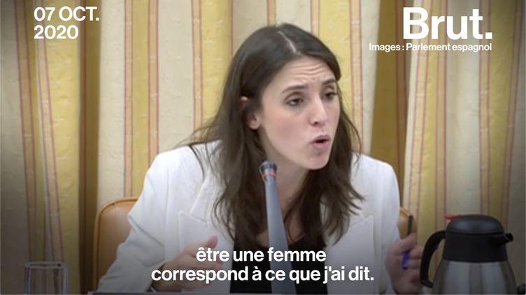 VIDEO. La réponse cinglante de la ministre espagnole de l'Égalité à une députée d'extrême droite (BRUT)