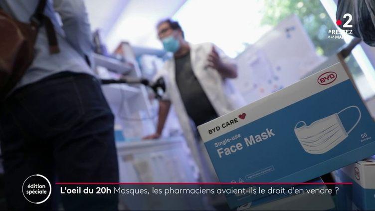 Les pharmaciens étaient autorisés à vendre des masques depuisla fin mars 2020 et ne le savaient pas. (FRANCE 2)