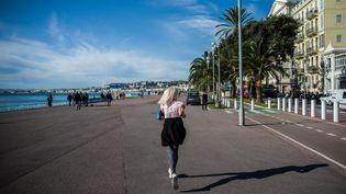 La promenade des Anglais, à Nice (Alpes-Maritimes), le 13 novembre 2019. (FREDERIC SCHEIBER / HANS LUCAS / AFP)