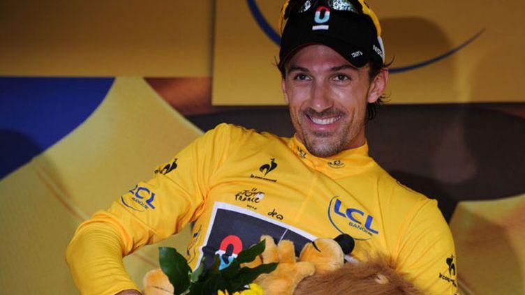Fabian Cancellara premier maillot jaune du Tour 2012